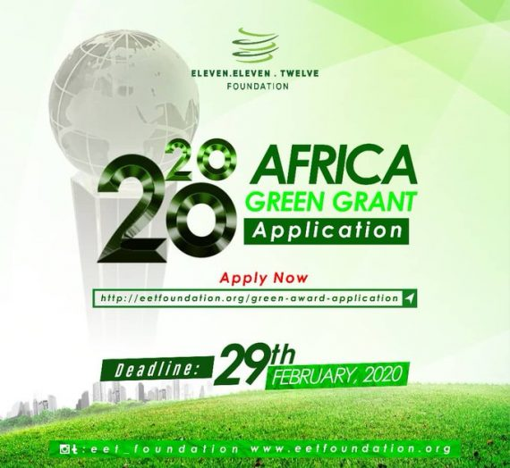 ELEVEN ELEVEN TWELVE FOUNDATION APPLICATION FOR THE 2020 AFRICA GREEN GRANT