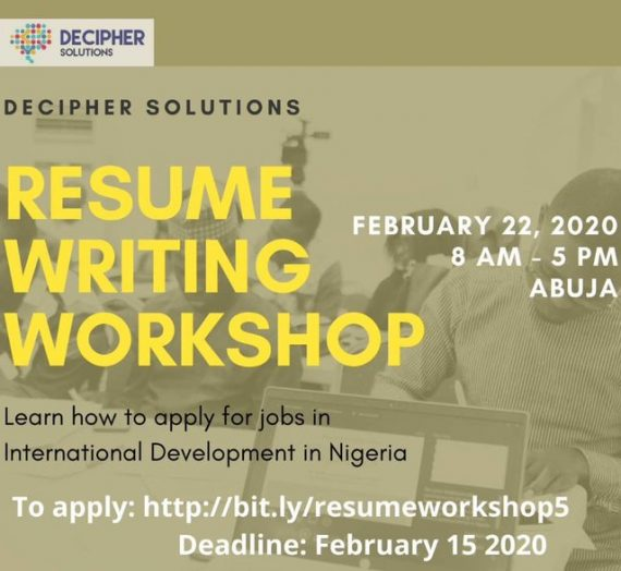 DECIPHER SOLUTIONS FEBRUARY 2020 WORKSHOP