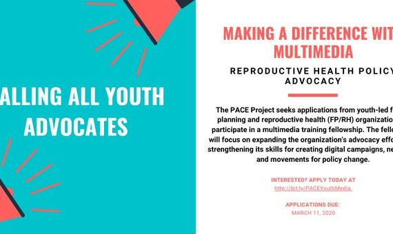 PACE TRAINING FELLOWSHIP APPLICATION: CALLING ALL YOUTH-LED ADVOCACY ORGANIZATIONS