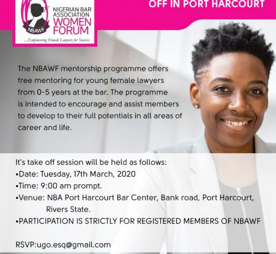 NBA WOMEN FORUM (NBAWF)- FREE MENTORSHIP CLINIC KICKS OFF IN PORT HARCOURT