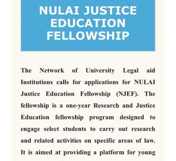 NULAI JUSTICE EDUCATION FELLOWSHIP