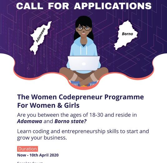 CALL FOR APPLICATION FOR THE NORTHEAST INNOVATION HUB WOMEN CODEPRENEUR PROGRAM