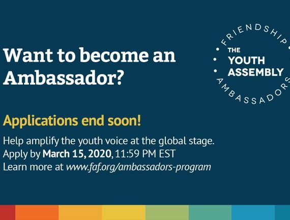 THE YOUTH ASSEMBLY AMBASSADORS PROGRAM- FRIENDSHIP AMBASSADOR FOUNDATION