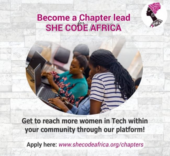 CHAPTER LEAD APPLICATION- BECOME A SHE CODE AFRICA (SCA) CHAPTER LEAD