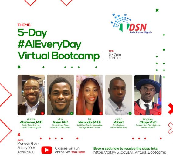 DATA SCIENCE NIGERIA (DSN) 5-DAY AI EVERYDAY VIRTUAL BOOTCAMP