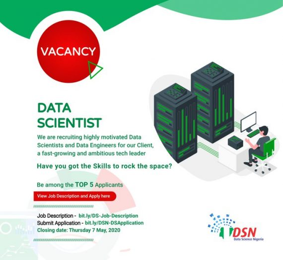 DATA SCIENCE NIGERIA DATA SCIENTIST RECRUITMENT