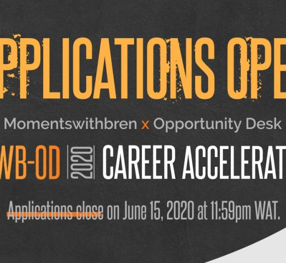 APPLY FOR MWB-OD CAREER ACCELERATOR 2020