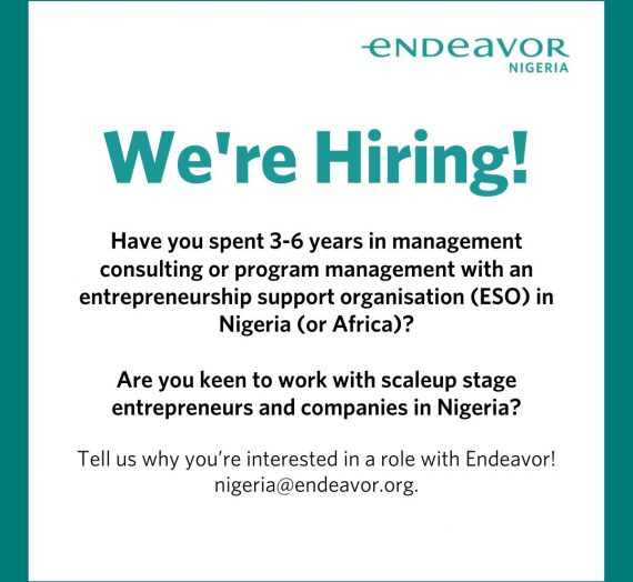 SENIOR ASSOCIATE/MANAGER VACANCY AT ENDEAVOR
