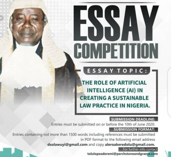 HON. JUSTICE P. O. ADEREMI (JSC) ESSAY COMPETITION