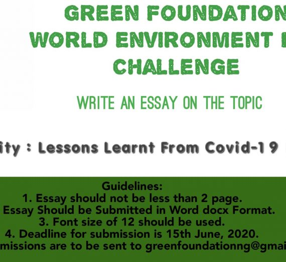 GREEN FOUNDATION WORLD ENVIRONMENT DAY CHALLENGE