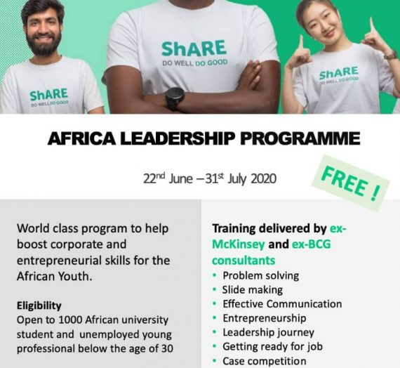 ShARE LEADERSHIP PROGRAM OF EXCELLENCE FOR AFRICA
