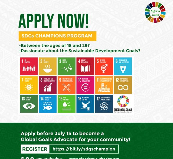 CALL FOR APPLICATION – SDGS CHAMPIONS PROGRAM
