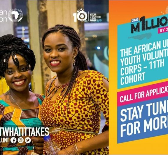APPLICATIONS FOR THE 11TH COHORT OF THE AFRICAN UNION YOUTH VOLUNTEER CORPS PROGRAM