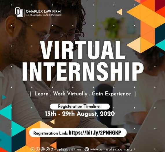 VIRTUAL INTERNSHIP BY OMAPLEX LAW FIRM
