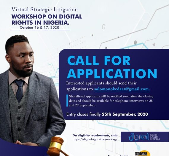 DIGITAL RIGHTS LAWYERS INITIATIVE (DRLI) VIRTUAL STRATEGIC LITIGATION WORKSHOP ON DIGITAL RIGHTS