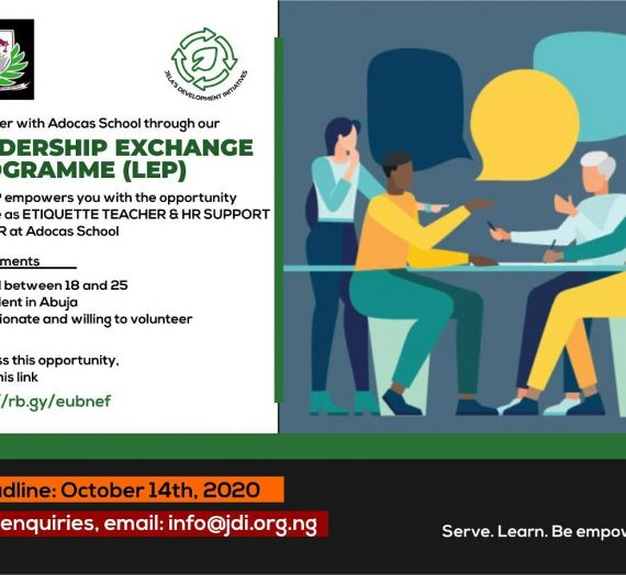 LEADERSHIP EXCHANGE PROGRAMME (LEP) APPLICATION