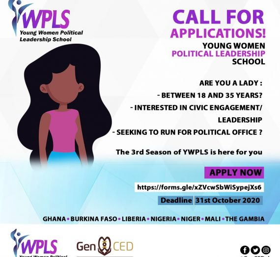 APPLICATION FOR YOUNG WOMEN POLITICAL LEADERSHIP SCHOOL