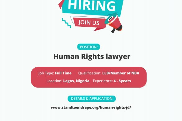 Job opening at Stand To End Rape (STER)- Human Rights Lawyer