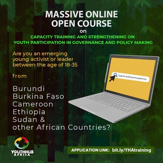 Register for the Massive Online Open Course (MOOC) on Capacity building in the areas of youth participation in governance and policymaking