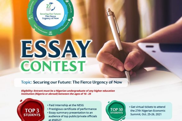 NES27 ESSAY CONTESTSecuring Our Future:The Fierce Urgency Of Now